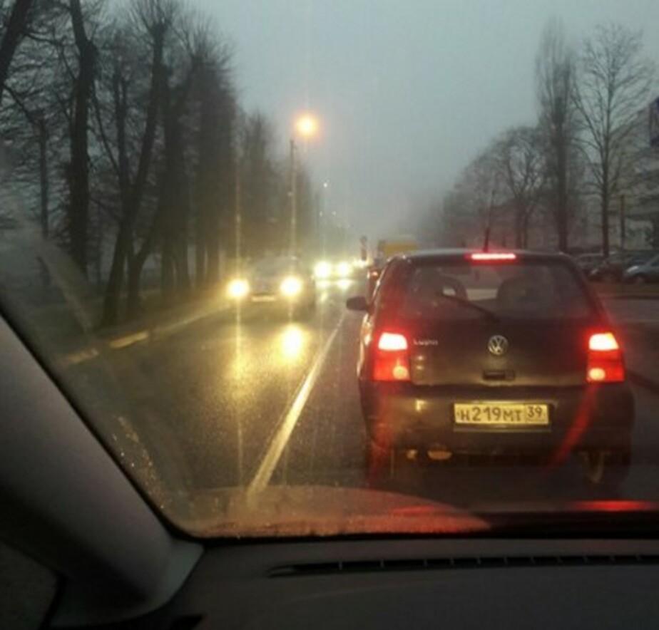 Очевидцы: на выезде из Гурьевска из-за тумана образовались пробки  - Новости Калининграда