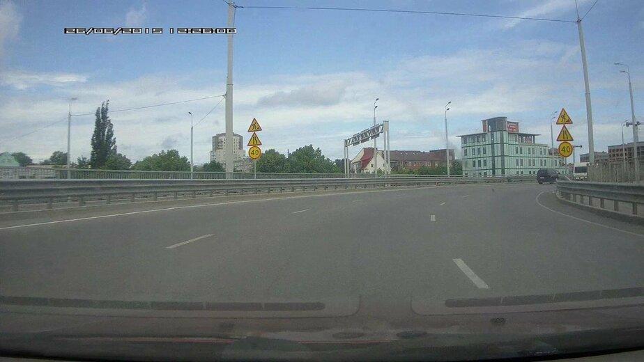 На Второй эстакаде фоторадары передвинули под знаки ограничения в 40 км/ч - Новости Калининграда