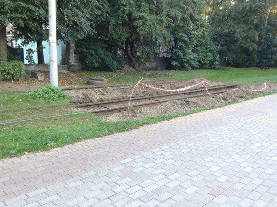 В Калининграде на Фестивальной аллее заменят несколько метров трамвайных рельсов  - Новости Калининграда
