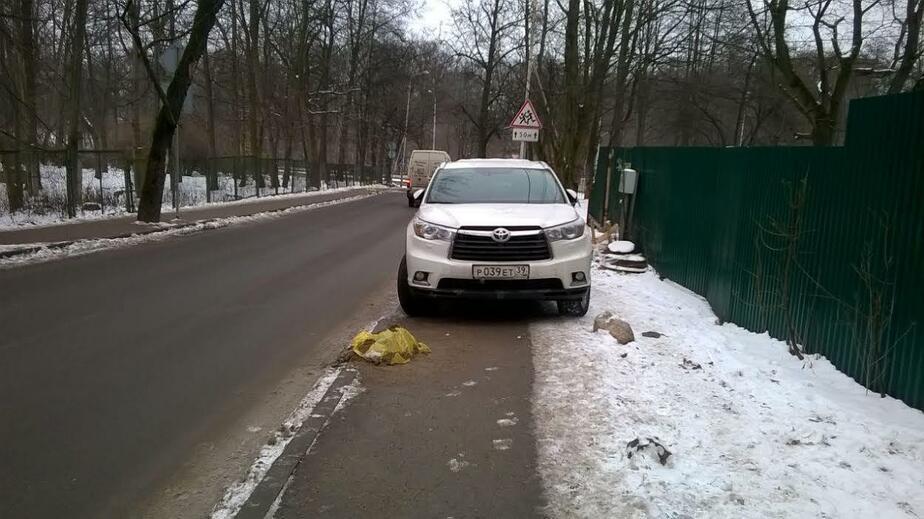 """Водитель, ты судак: владелец """"Тойоты"""" преградил путь пешеходам на Еловой Аллее"""