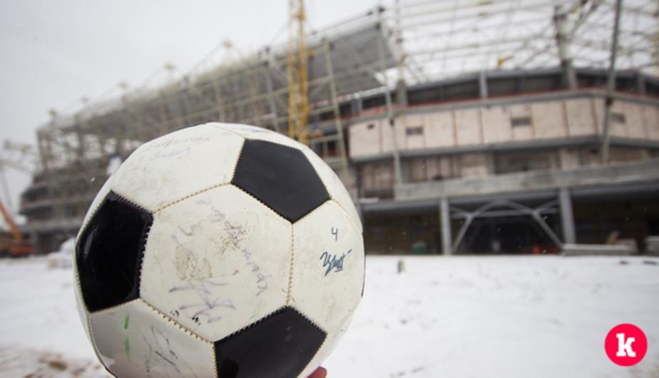 В Калининграде полностью забетонировали основание футбольного поля на стадионе к ЧМ-2018 - Новости Калининграда