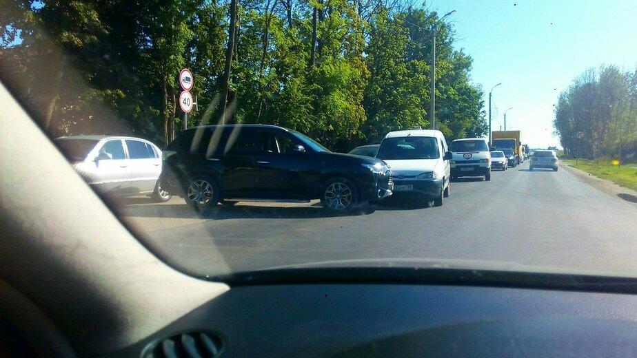 Авария с участием внедорожника и пикапа заблокировала въезд в Гурьевск  - Новости Калининграда