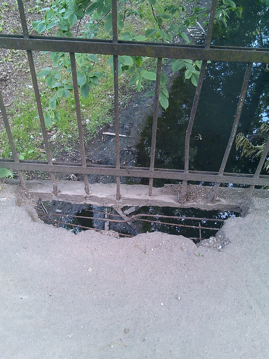 На ул. Островского от моста отваливаются куски (фото) - Новости Калининграда
