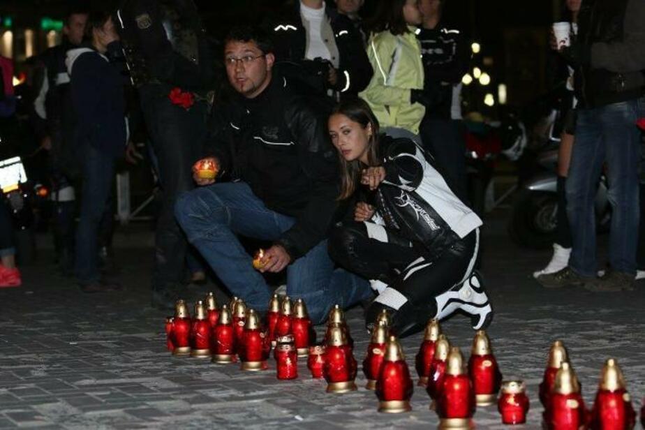 В Калининграде помянули погибших мотоциклистов - Новости Калининграда