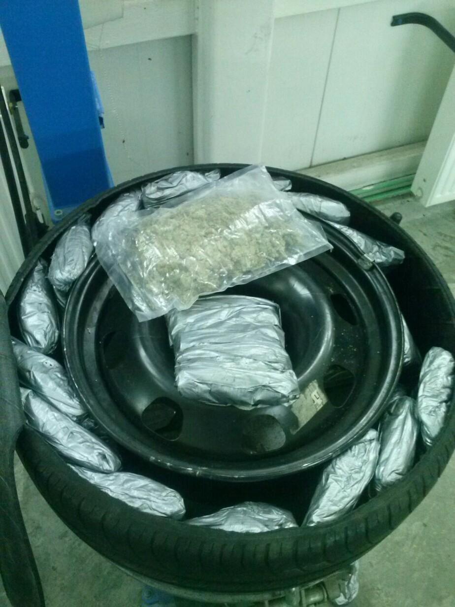 Калининградец пытался провезти через границу 3,6 кг марихуаны в запасном колесе - Новости Калининграда