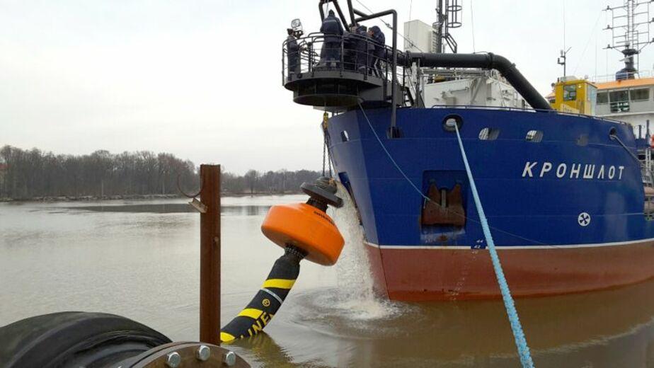 В морском порту Калининград начались работы по углублению дна - Новости Калининграда