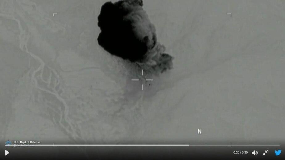 Скриншот с официальной страницы Министерства обороны США в Twitter
