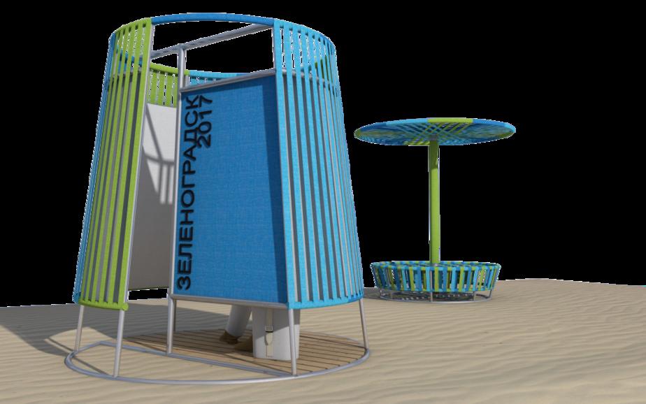 В Зеленоградске разработали новые эскизы зонтиков и пляжных кабинок для переодевания (фото) - Новости Калининграда