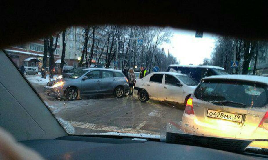 Из-за ДТП на ул. Невского и Фрунзе образовались пробки