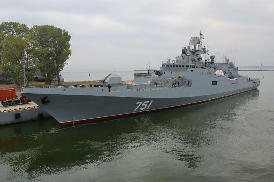 Построенный в Калининграде новый сторожевик готовится к первому выходу в море