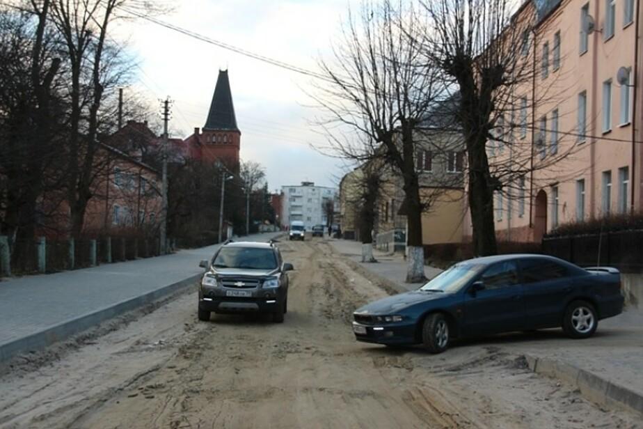 В Багратионовске дорожники сняли старинную брусчатку с двух улиц - Новости Калининграда