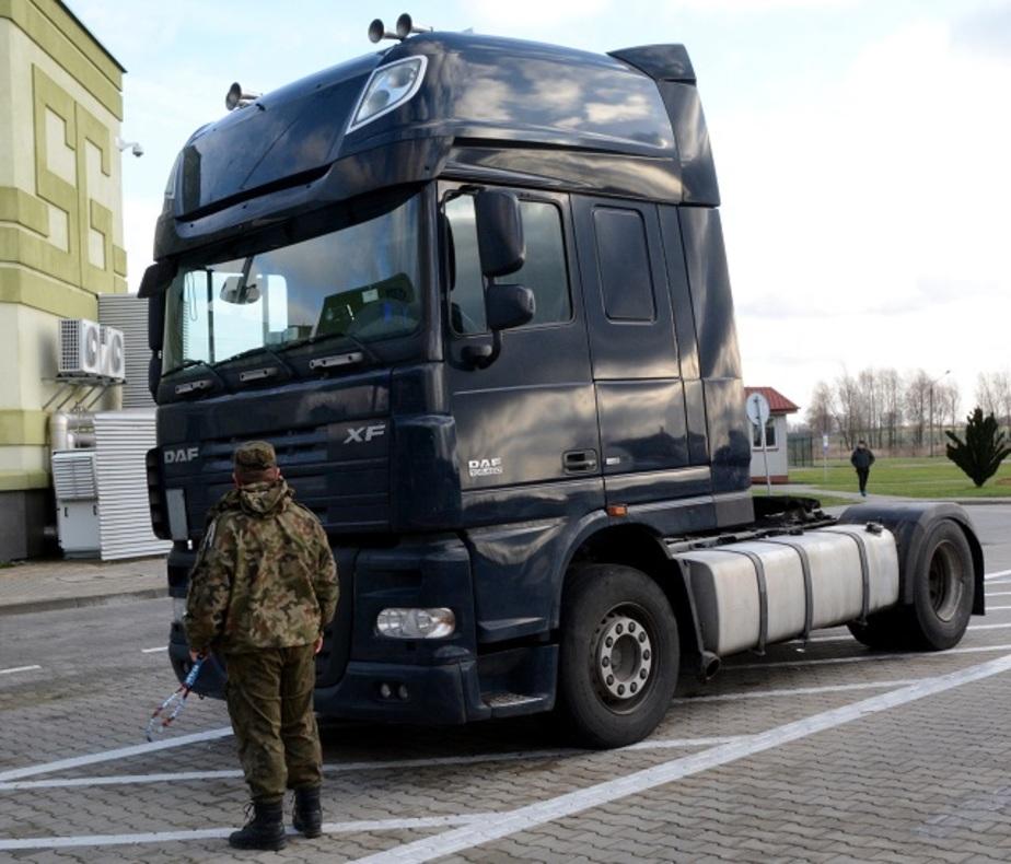 В Безледах задержали россиянина на угнанном в Германии грузовике