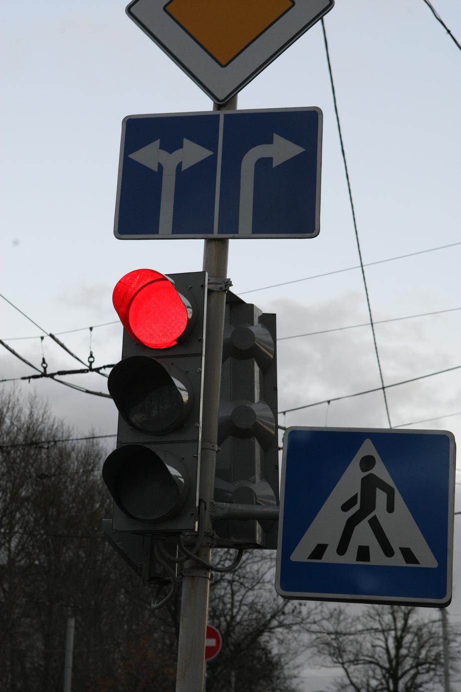 На Московском проспекте у ТЦ Сити не работает светофор