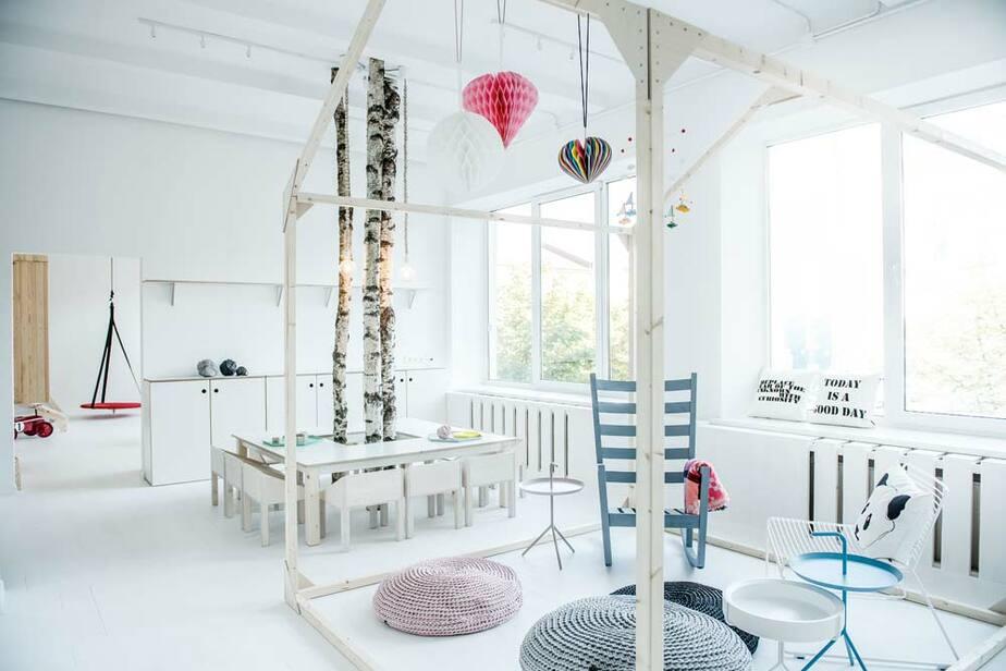 Литовская студия Dizaino Virtuve создала нетрадиционный интерьер частного детского сада. - Новости Калининграда