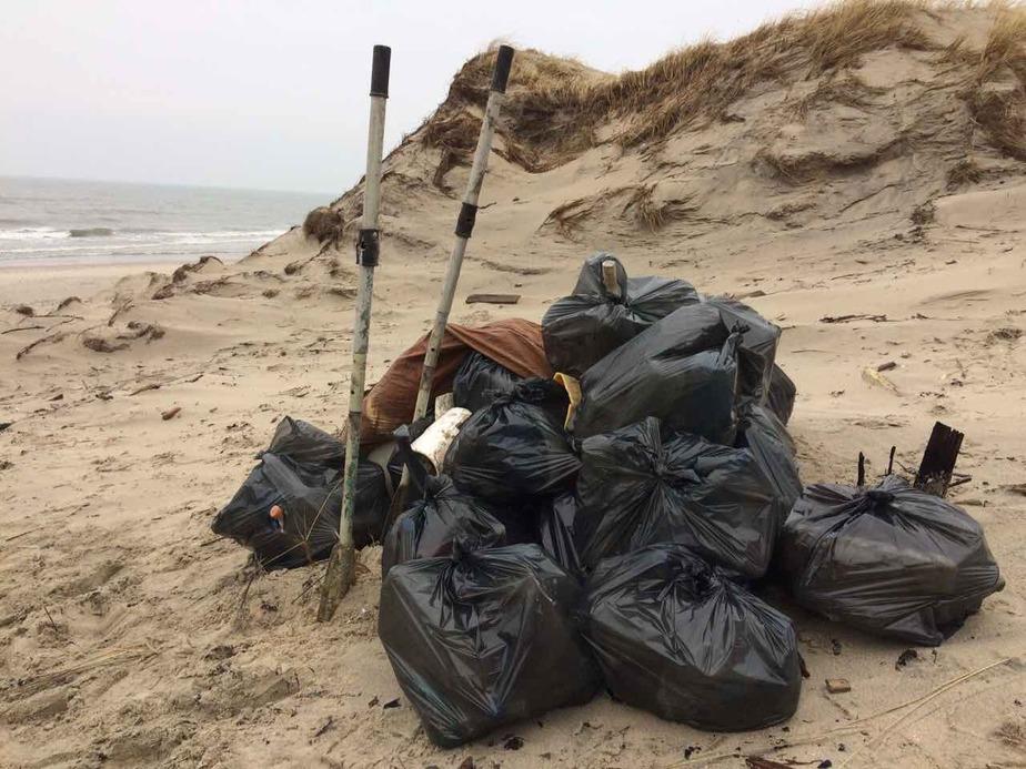 При уборке пляжей Куршской косы нашли резиновую лодку и коллекцию лампочек    - Новости Калининграда
