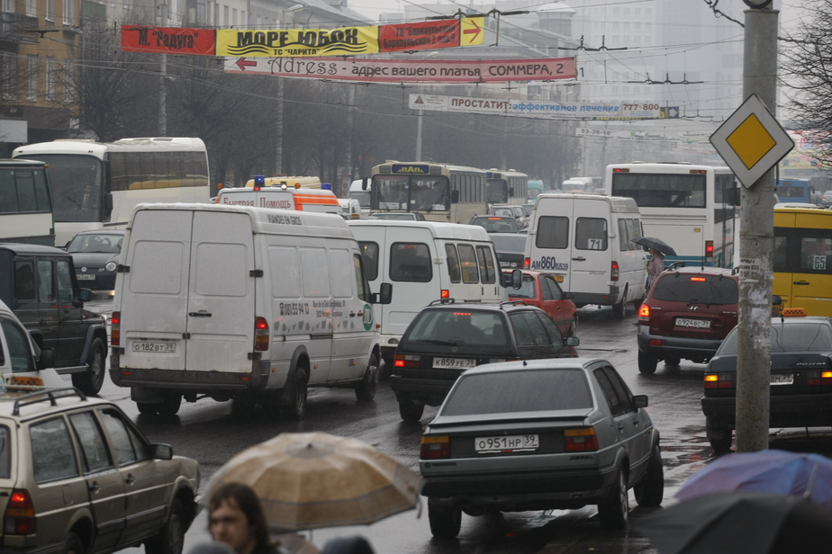На двух улицах Калининграда собираются пробки из-за ДТП - Новости Калининграда