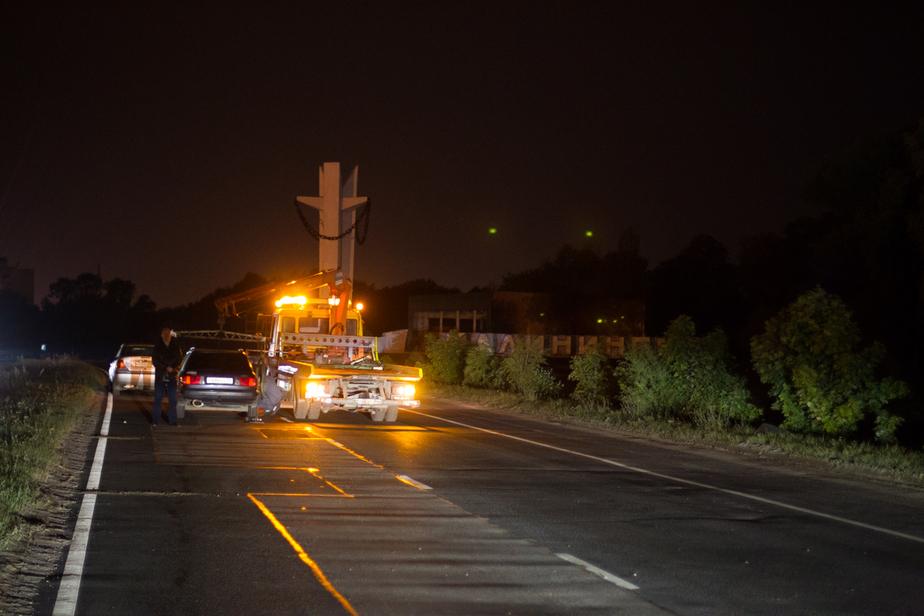 На трассе Калининград-Нестеров очередная авария: машины столкнулись на светофоре - Новости Калининграда
