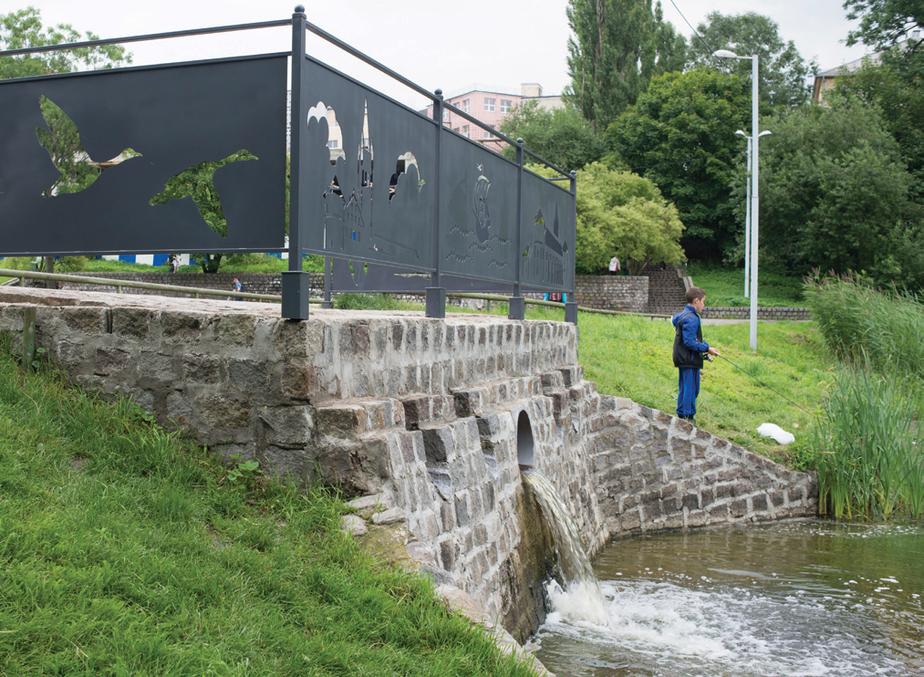 Власти областного центра привели в порядок перелив воды на Нижнем пруду - Новости Калининграда