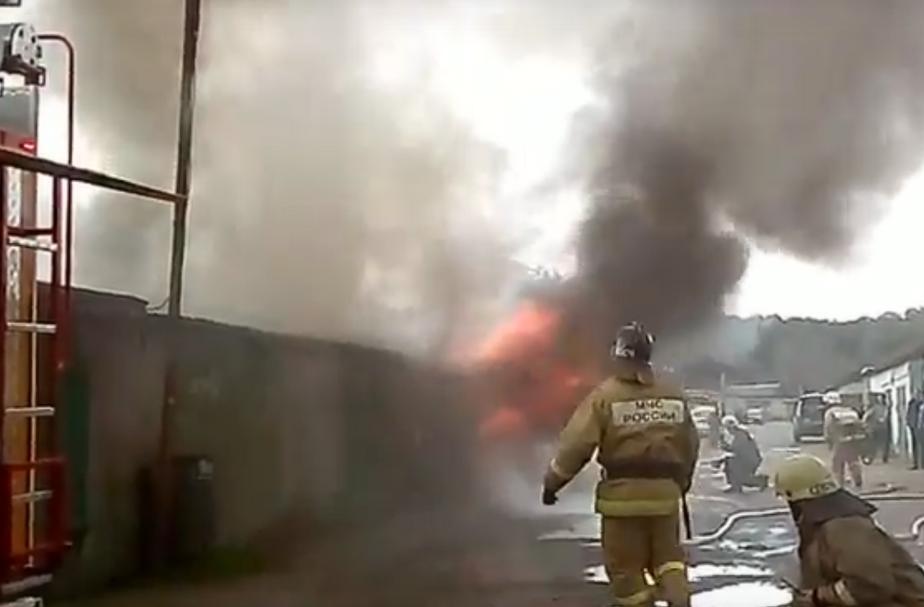 Скриншот видеозаписи пожара