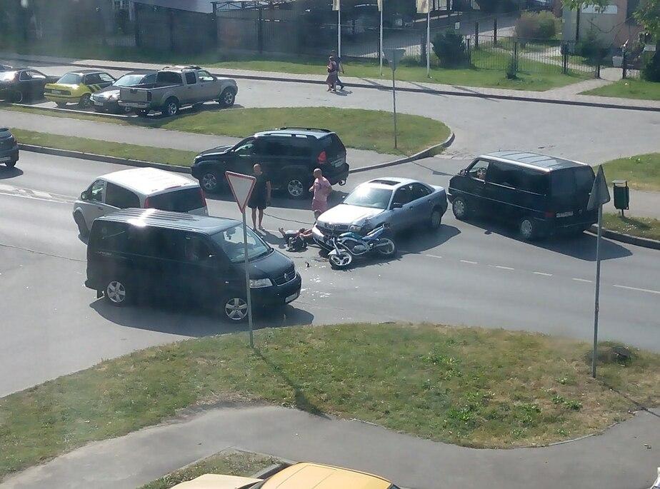 В Калининграде произошло ДТП с участием легкового автомобиля и мотоцикла - Новости Калининграда