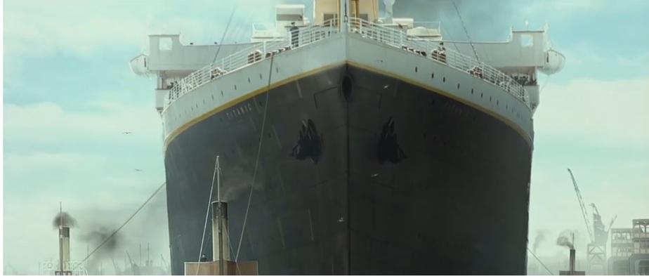 "Кадр из фильма ""Титаник"" Джеймса Кэмерона"
