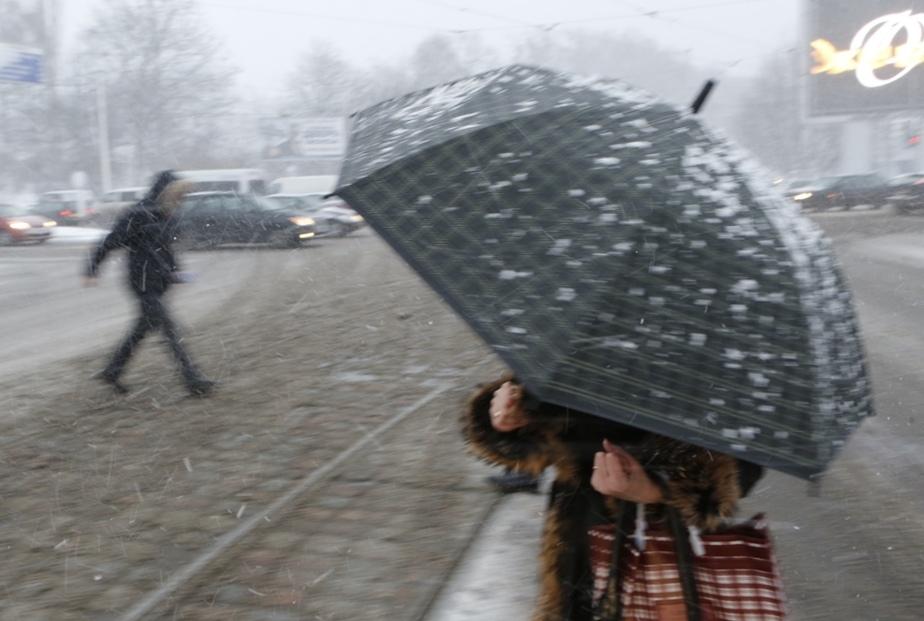 Синоптики обещают сегодня мокрый снег в Калининграде - Новости Калининграда