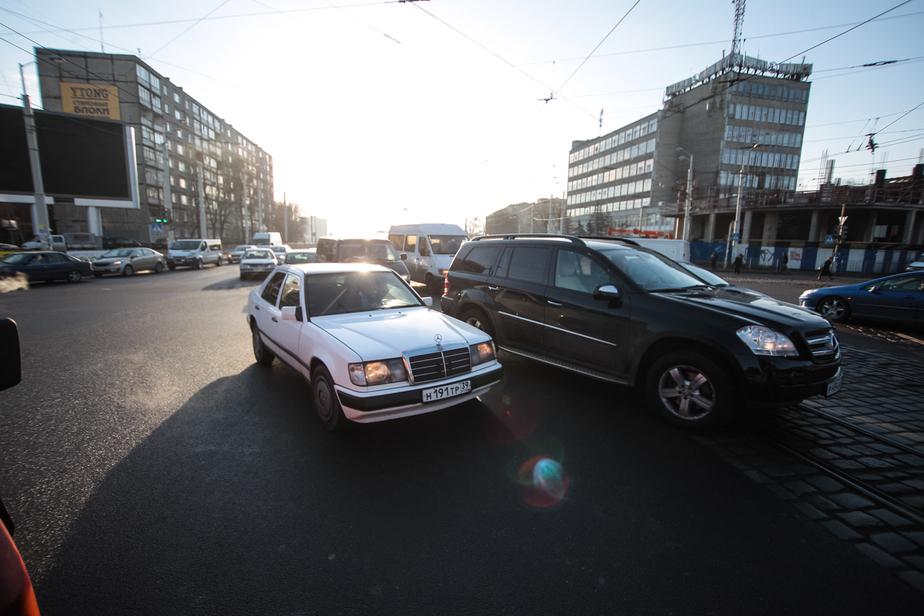 В Калининграде из-за поломки светофоров и ДТП образовались пробки  - Новости Калининграда