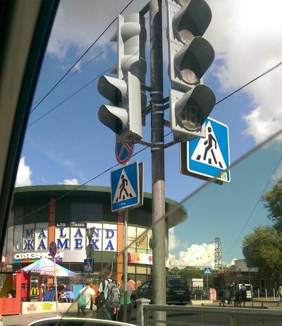 На Советском проспекте установили новый светофор  - Новости Калининграда