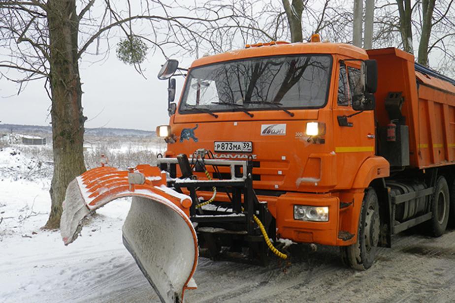 Снегоуборочная техника на региональных трассах вновь начала работать в круглосуточном режиме - Новости Калининграда