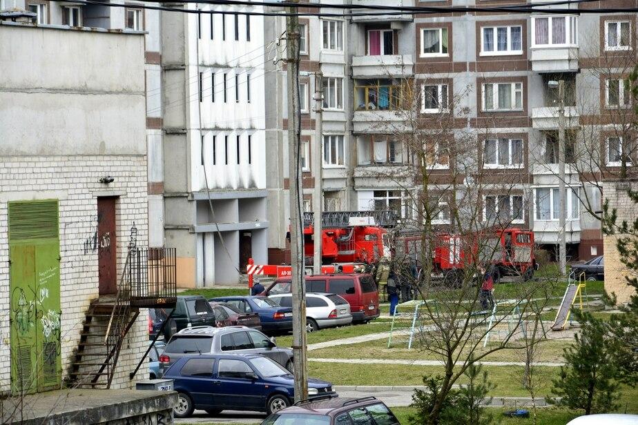В Калининграде трое бродяг пострадали при пожаре