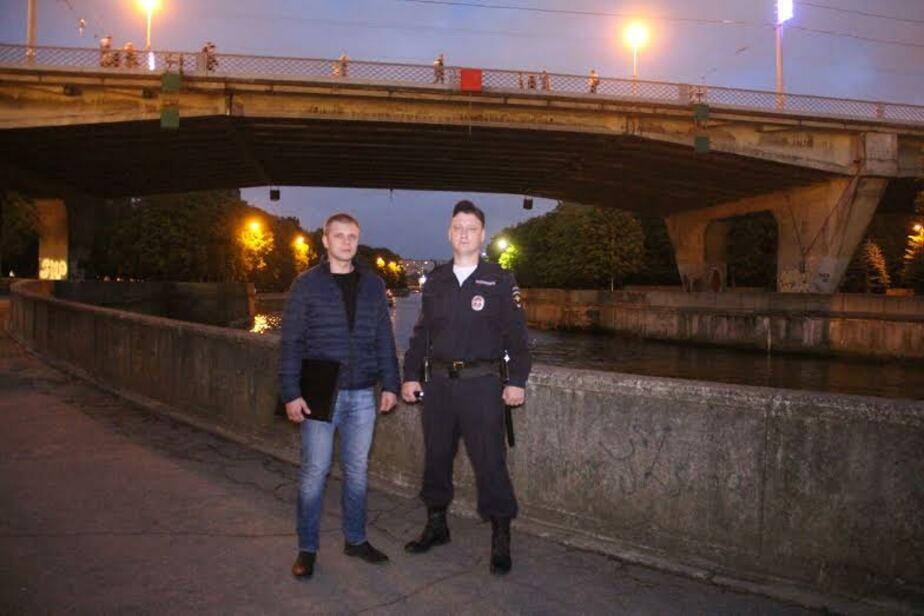 В День города пьяный мужчина упал с эстакадного моста в Преголю  - Новости Калининграда
