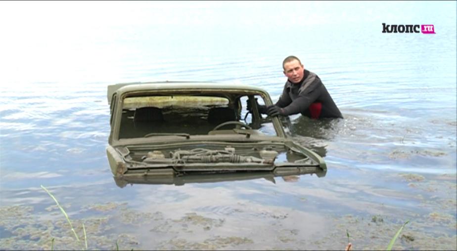 Со дна Шенфлиза подняли машину, подаренную ветерану за взятие Кенигсберга (видео) - Новости Калининграда