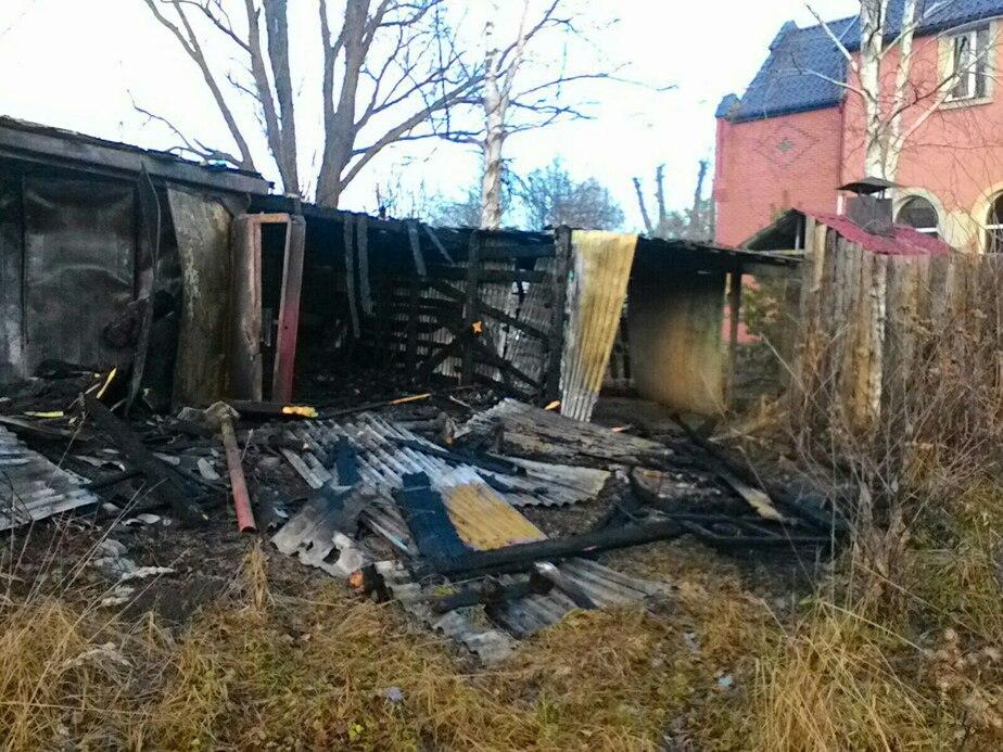 В Полесске горело летнее кафе - Новости Калининграда