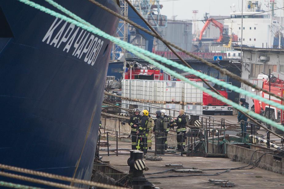В Калининграде на Преголе произошёл пожар на корабле - Новости Калининграда