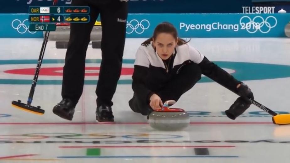 Кадр из видеотрансляции Олимпийских игр
