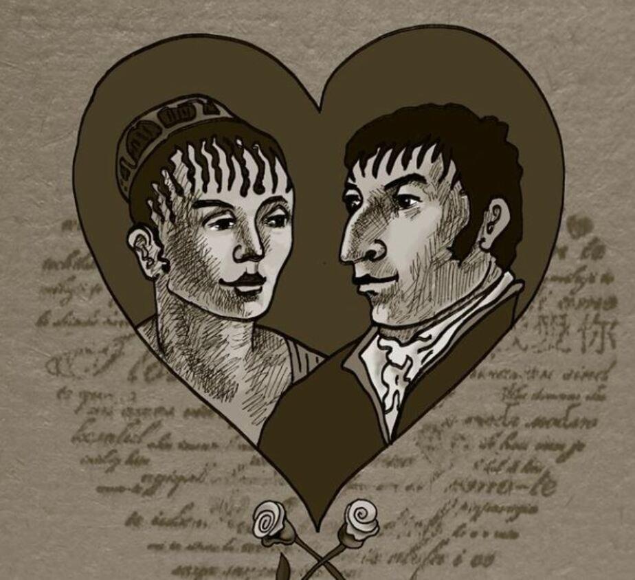 Гофман и Михалина / Рисунок Ольги Дмитриевой