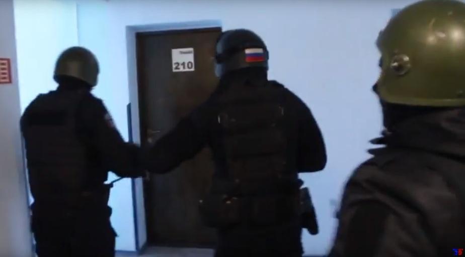 Кадр видеозаписи пресс-службы регионального УМВД
