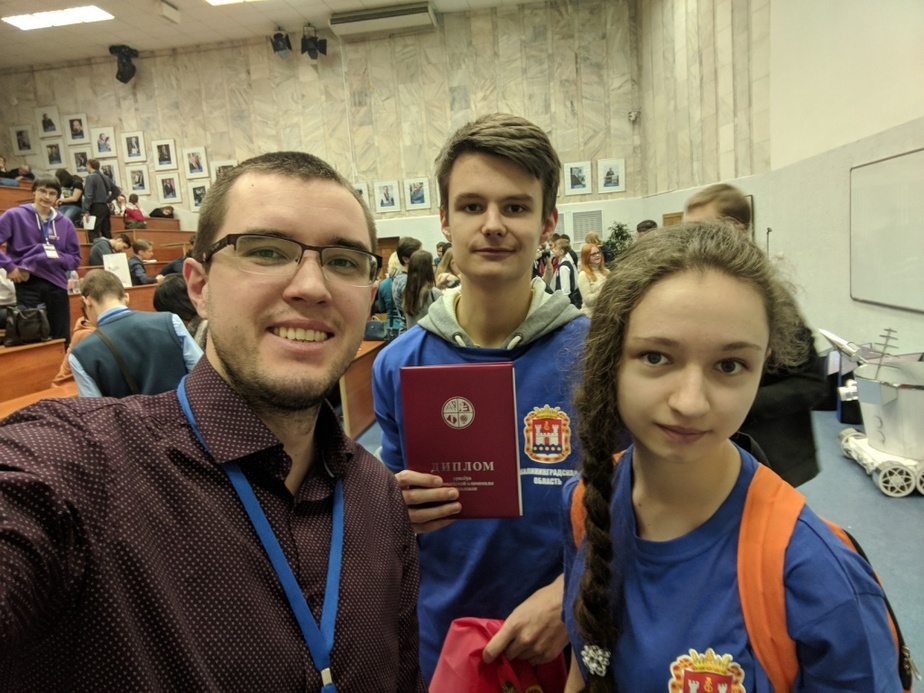 На фото Матвей Юшкин / Фото: пресс-служба БФУ им. И. Канта