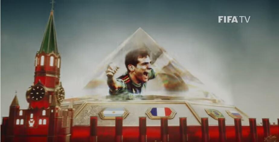 СМИ заметили крест вместо звезды на Спасской башне Кремля в официальном ролике FIFA - Новости Калининграда | Кадр видеозаписи FIFA 2018