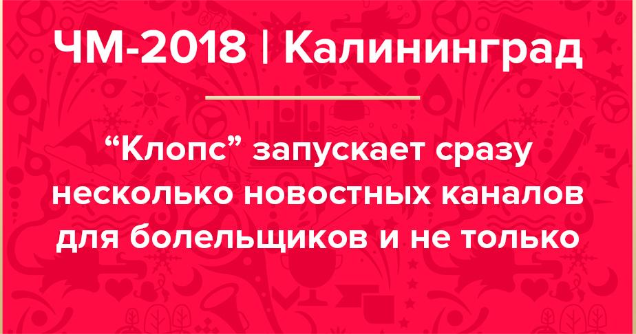 """Всё самое важное о футболе и не только вы найдёте на """"Клопс"""" - Новости Калининграда"""
