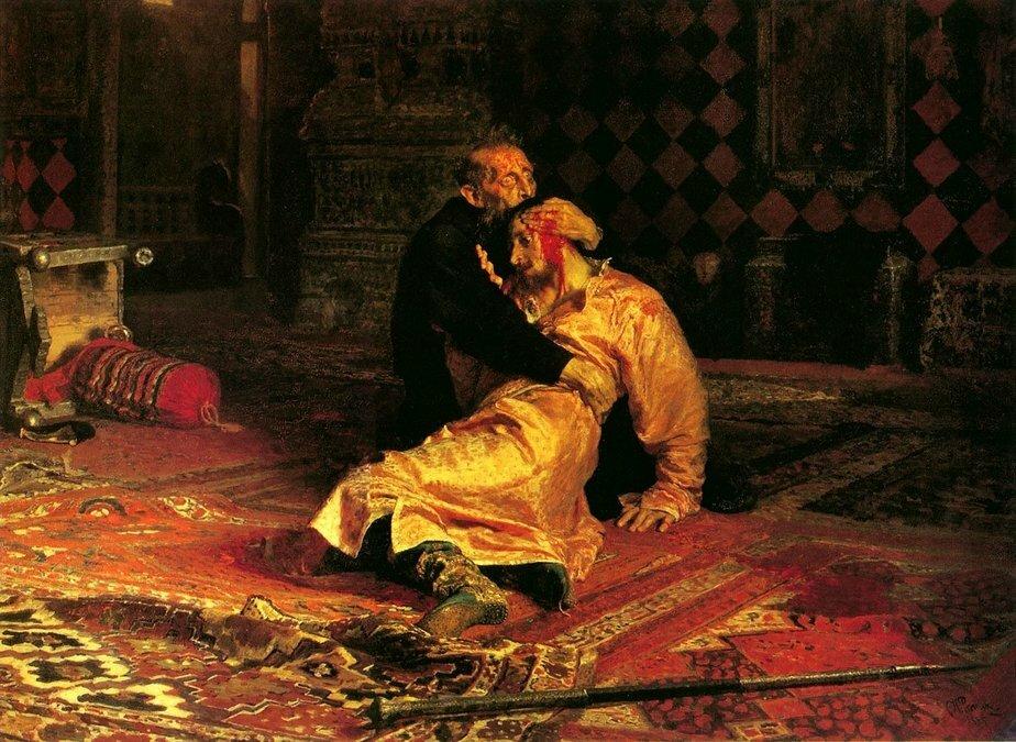 """Фото: Илья Репин / Картина """"Иван Грозный и его сын Иван 16 ноября 1581 года"""""""