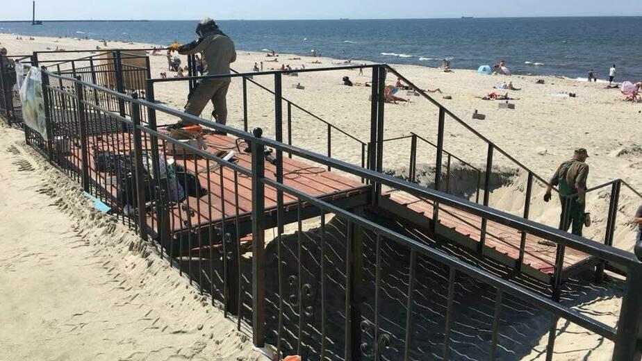 В Балтийске завершают благоустройство нового пляжа - Новости Калининграда | Фото: администрация Балтийского муниципального района