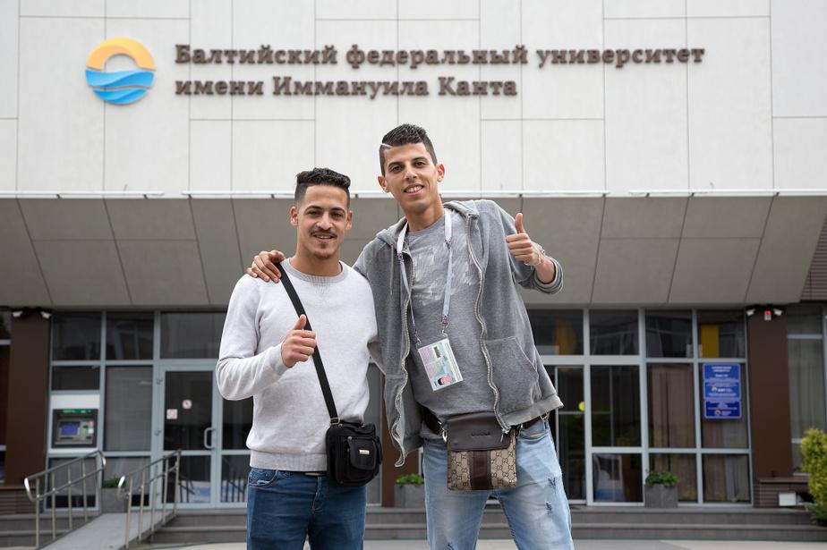 Два приехавших на ЧМ марокканца остались в Калининграде, чтобы поступить в БФУ - Новости Калининграда | Фото: пресс-служба БФУ им. И. Канта