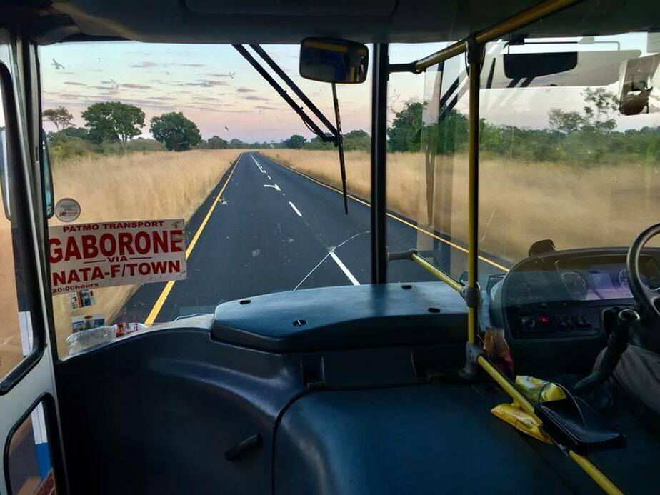 Рассвет в Ботсване из окна автобуса   Из личного архива героя публикации