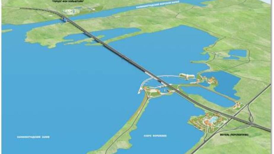 Региональные власти рассматривают три варианта конструкции моста через Калининградский залив - Новости Калининграда   Эскиз предоставлен правительством Калининградской области