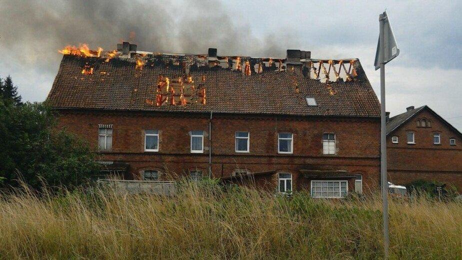 Дом в Черняховске загорелся из-за шаровой молнии - Новости Калининграда | Фото: очевидец