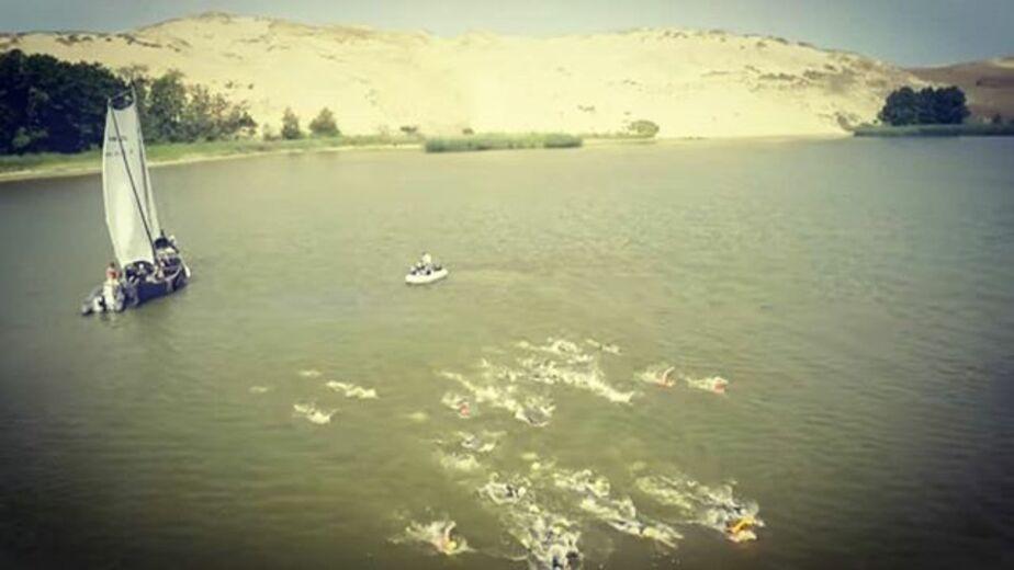 Два калининградца переплыли Куршский залив (фото, видео) - Новости Калининграда | Фото из архива Василия Нестерова
