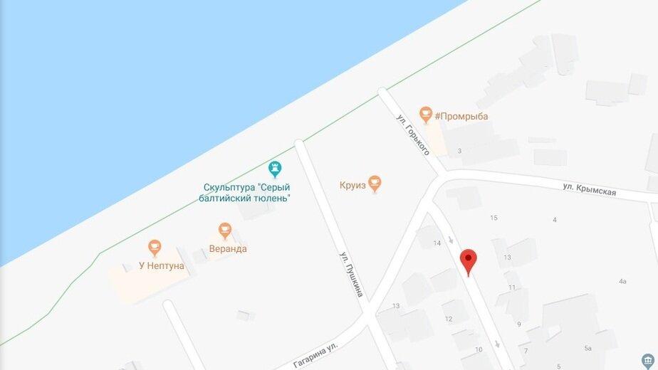 В Зеленоградске благоустроят проход к морю - Новости Калининграда | Скриншот сервиса  Google Maps