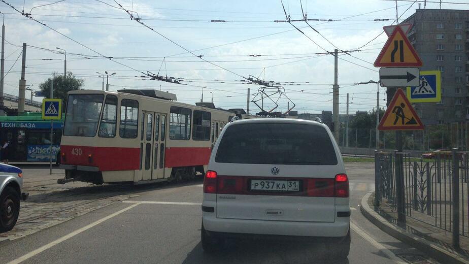 Трамвай перегородил Московский проспект - Новости Калининграда   Фото: очевидец