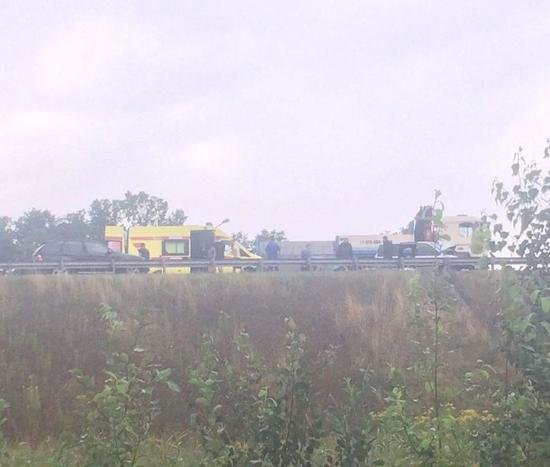 На Окружной произошло серьёзное ДТП - Новости Калининграда   Фото: очевидец